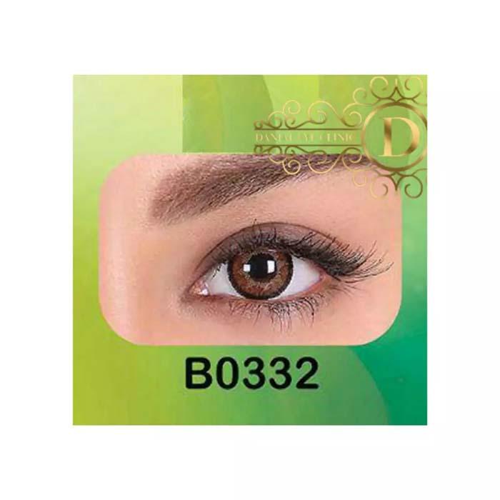 فروش لنز B0332 (قهوه ای عسلی)   بهمراه قیمت امروز لنز طبی و قیمت امروز لنز رنگی