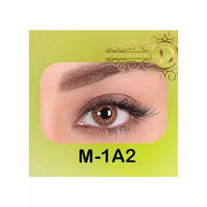 فروش لنز M1A2 (قهوه ای بدون دور)   بهمراه قیمت امروز لنز طبی و قیمت امروز لنز رنگی