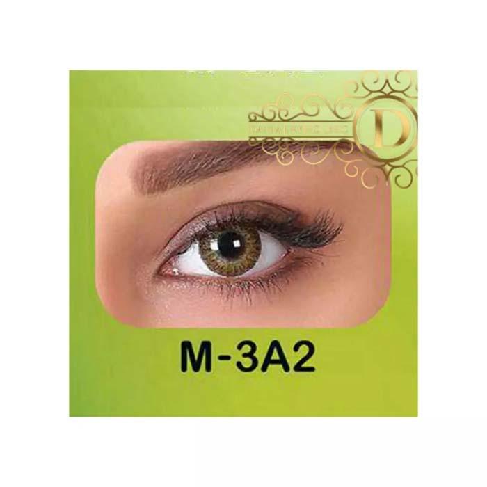 فروش لنز M3A2 (قهوه ای عسلی)   بهمراه قیمت امروز لنز طبی و قیمت امروز لنز رنگی