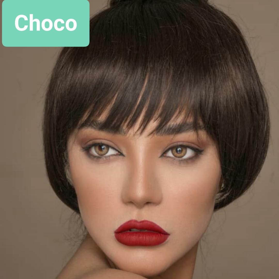 فروش لنز Choco (شکلاتی)  برند پلی ویو بهمراه قیمت امروز لنز رنگی و قیمت امروز لنز طبی