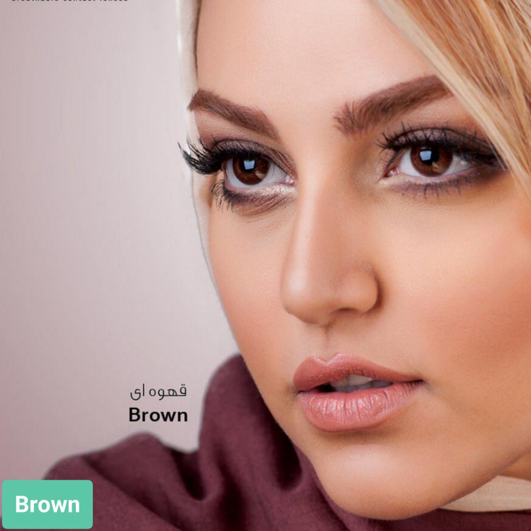 فروش لنز Brown (قهوه ای)  برند ایراپتیکس رنگی  بهمراه قیمت امروز لنز رنگی و قیمت امروز لنز طبی