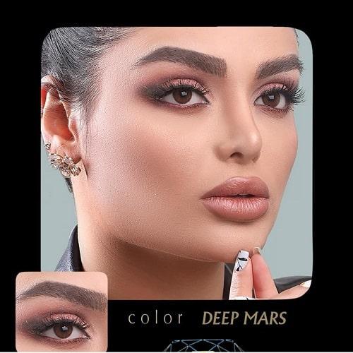Deep Mars(قهوه ای دور محور) برند آیسکالر به همراه قیمت امروز لنز طبی و قیمت امروز لنز رنگی