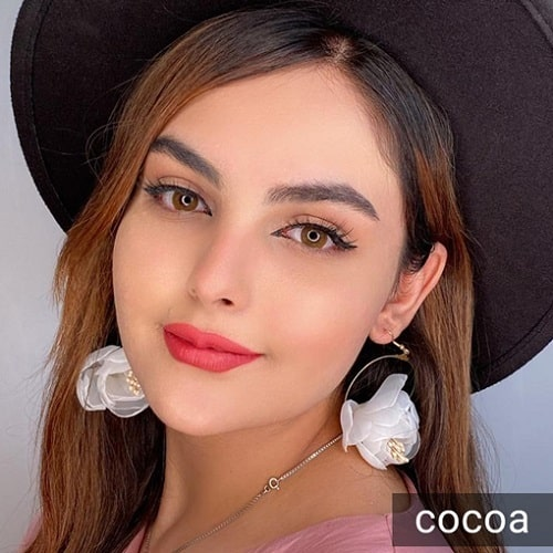 فروش لنز Cocoa ( قهوه ای شکلاتی بدون دور)  برنددیاموند بهمراه قیمت امروز لنز رنگی و قیمت امروز لنز طبی