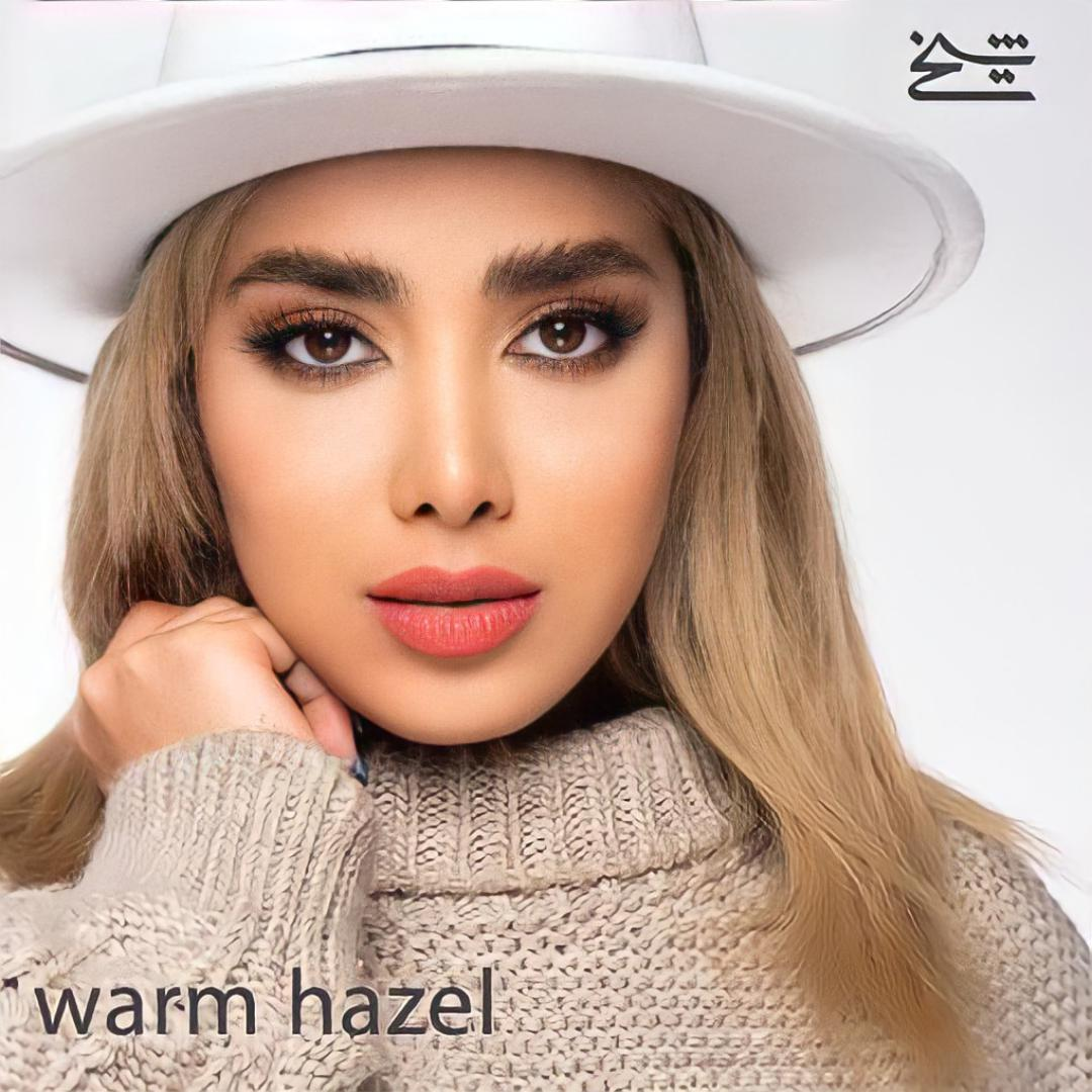 فروش لنزWarm Hazel (عسلی قهوه ای دوردار)  برند شیخ بهمراه قیمت امروز لنز رنگی  و قیمت امروز لنز طبی
