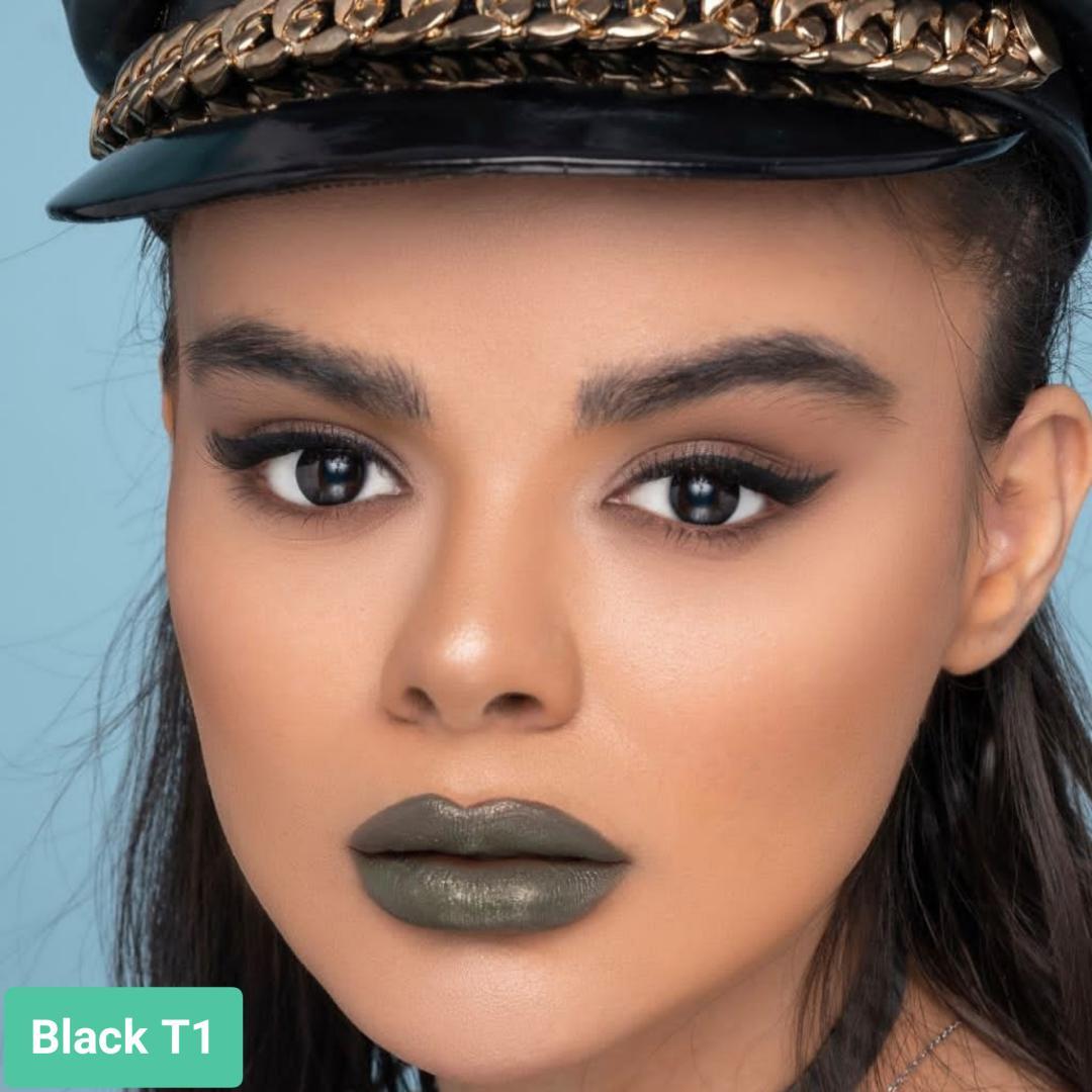 فروش لنز  Black T1 (مشکی)  بهمراه قیمت امروز لنز طبی و قیمت امروز لنز رنگی