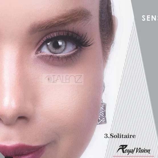 فروش لنز Solitaire (یخی دوردار)  برند رویال ویژن بهمراه قیمت امروز لنز رنگی و قیمت امروز لنز طبی