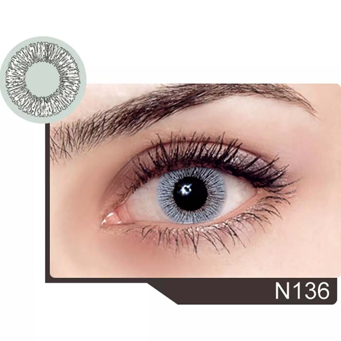 فروش لنز N 136 (یخی بدون دور)  بهمراه قیمت امروز لنز رنگی  و قیمت امروز لنز طبی