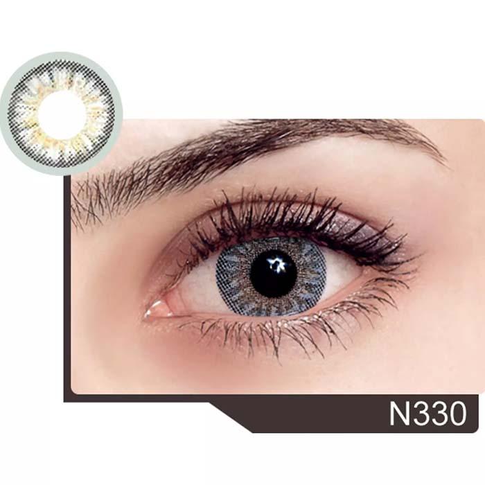 فروش لنز N 330 (یخی عسلی)  بهمراه قیمت امروز لنز رنگی  و قیمت امروز لنز طبی
