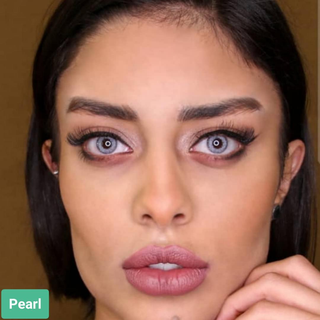 فروش لنز Pearl (یخی بدون دور) برند سولکو رنگی  بهمراه قیمت امروز لنز رنگی و قیمت امروز لنز طبی