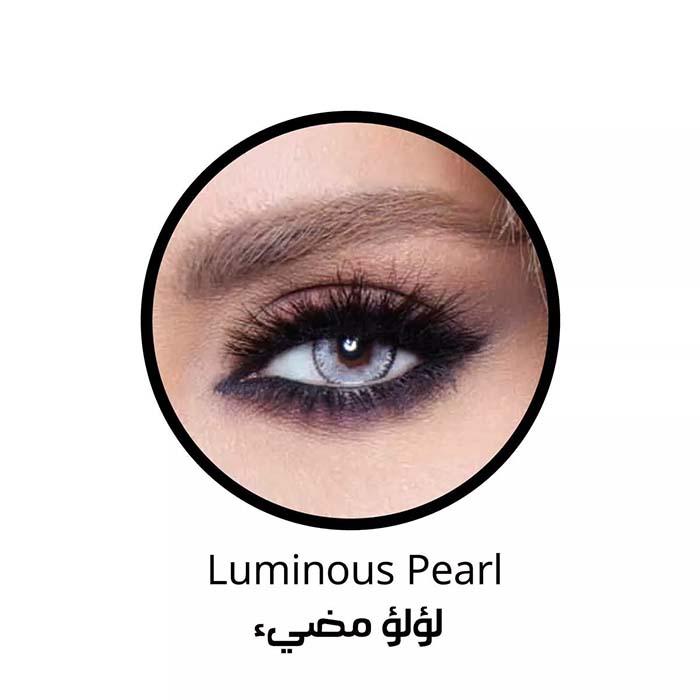 فروش لنزLuminus Pearl (یخی آبی دوردار) برند بلا  بهمراه قیمت امروز لنز رنگی  و قیمت امروز لنز طبی